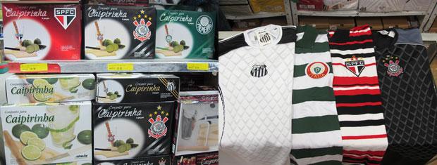 6633732a3 Lojas também têm presentes de times de futebol  kit caipitinha e camisetas  de torcedor (