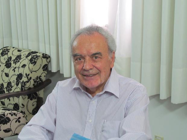 Werner Arber ganhou o Nobel de Medicina pela descoberta das enzimas de restrição (Foto: Tadeu Meniconi / G1)