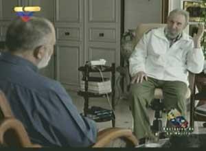 Mario Silva e Fidel Castro em foto divulgada pelo Cubadebate (Foto: Reprodução)