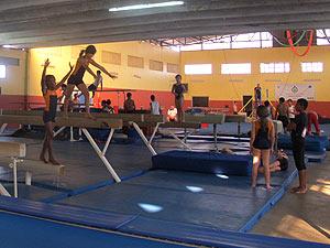 Sala de ginástica da escola Setor Leste, melhor pública do DF no Enem (Foto: Jamila Tavares/G1)