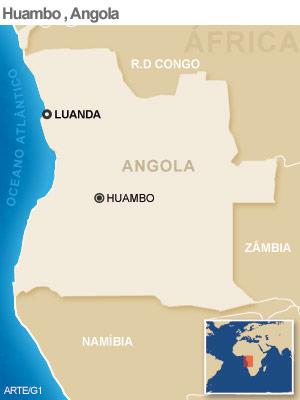 queda avião Angola 14/9 (Foto: Arte G1)