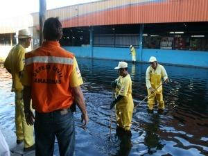 Alagação no Centro de Manaus, em 2010 (Foto: Divulgação/Subcomadec)