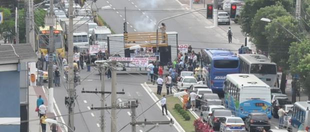 7e0d57d6f234d G1 - Protesto da Polícia Civil fecha avenida movimentada de Vitória ...