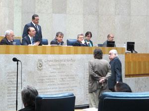 Plenário da Câmara de SP nesta quarta-feira  (Foto: Roney Domingos / G1)