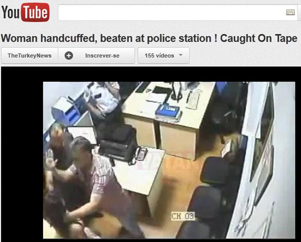 ad68b8220 G1 - Vídeo flagra policiais espancando mulher turca, presa por não ...