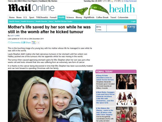 Layla Stephens e seu filho em reportagem local (Foto: Reprodução/Daily Mail)