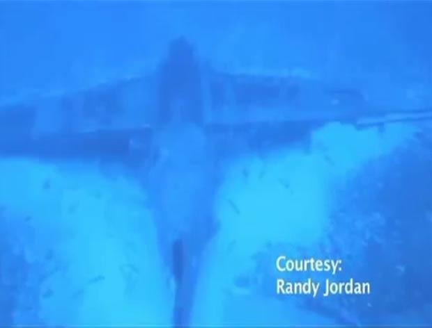Especialista acredita que a aeronave seja um modelo Curtiss Helldiver SB2C. (Foto: Reprodução)