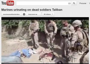 Imagem de vídeo mostra os soldados que estariam desrespeitando corpos de militantes (Foto: Reprodução de vídeo)