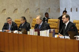 Ministros do STF durante julgamento da Lei da Ficha Limpa (Foto: Dida Sampaio / Agência Estado)