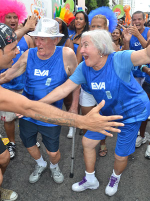 Casal comemora 21 anos de folia em Salvador e 50 anos de união neste domingo (19) (Foto: Eduardo Freire/G1)