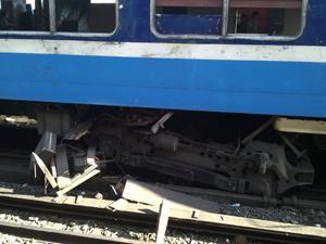 Acidente de trem em Buenos Aires (Foto: Giancarlo Lozano/VC no G1)
