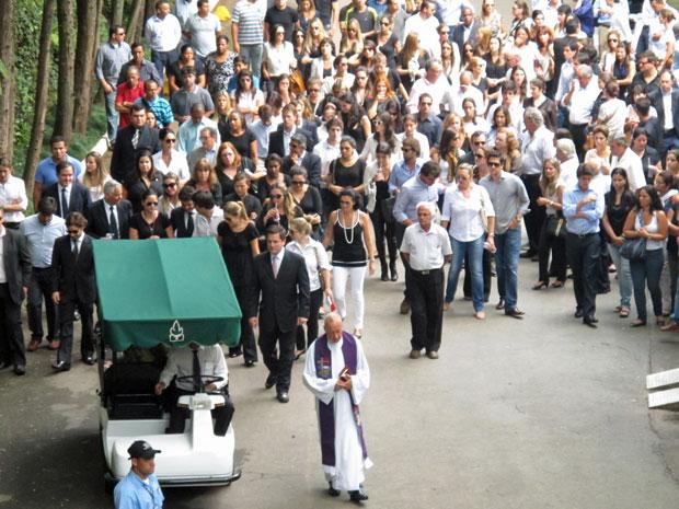 Eliana Tranchesi foi enterrada na tarde desta sexta (Foto: Marcelo Mora/G1)