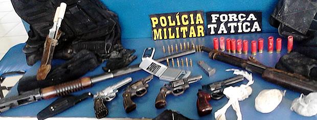 Armas apreendidas (Foto: Assessoria/PM)