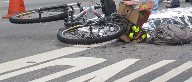 ciclista atropelada paulista (Foto: Rosanne D'Agostino/G1)