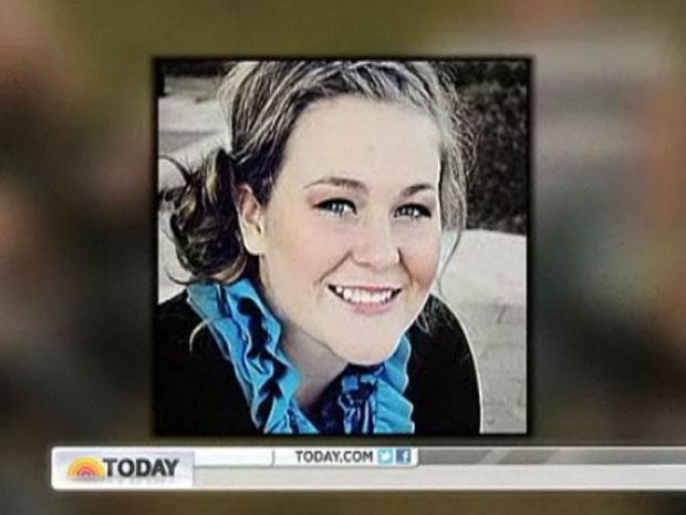 Taylor Sauer enviou uma fatídica mensagem antes do acidente que tirou sua vida (Foto: Reprodução/NBC)