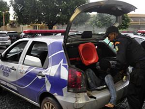 Motorista embriagado atropela estudantes e arrasta jovem em MT, diz PM (Foto: Deivison Almeida G1/MT)