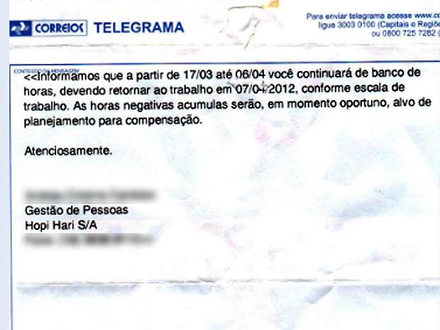 G1 - Funcionária do Hopi Hari recebe telegrama com data de retorno