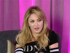 Madonna dá entrevista para divulgar seu novo álbum 'MDNA' (Foto: Reprodução)