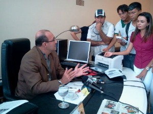 Reunião realizada na manhã desta terça (Foto: Reprodução/Prefeitura de Manaus)