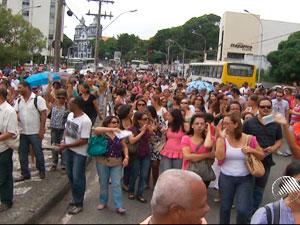Greve de professores na Bahia (Foto: Reprodução/TV Bahia)