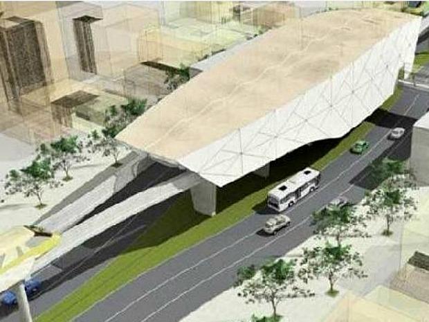 Mototrilho é uma das obras planejadas para melhorar a mobilidade urbana de Manaus (Foto: Divulgação/Seplan-AM)