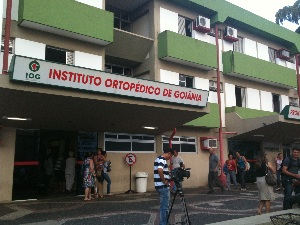 Pedro, filho do cantor Leonardo, está internado no IOG, em Goiás (Foto: Humberta Carvalho/G1)