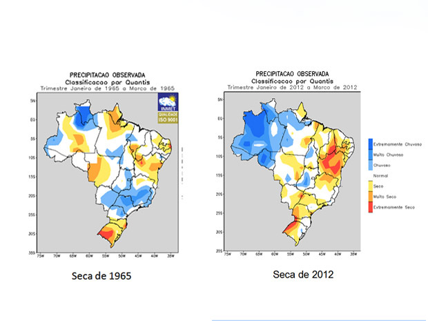 Comparação da seca na Bahia em 1965 e em 2012 (Foto: Divulgação/Comite da Seca na Bahia)