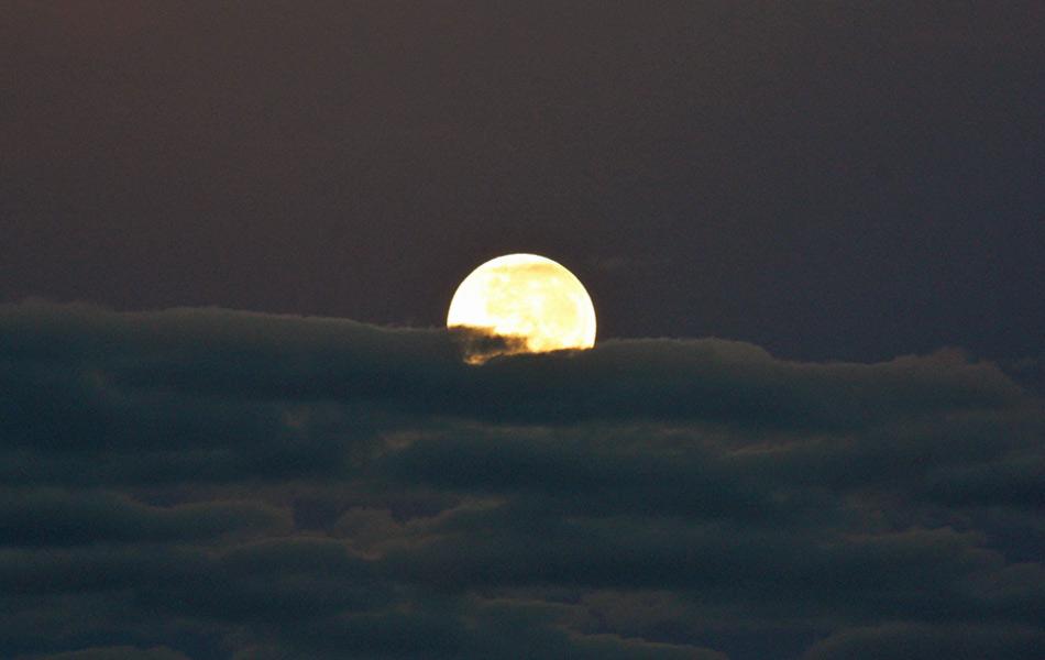Imagem da Lua no Rio