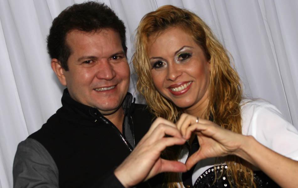 Chimbinha e Joelma, durante preparação para o show