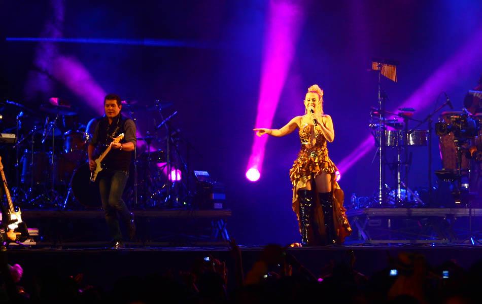 Joelma e Chimbinha no palco