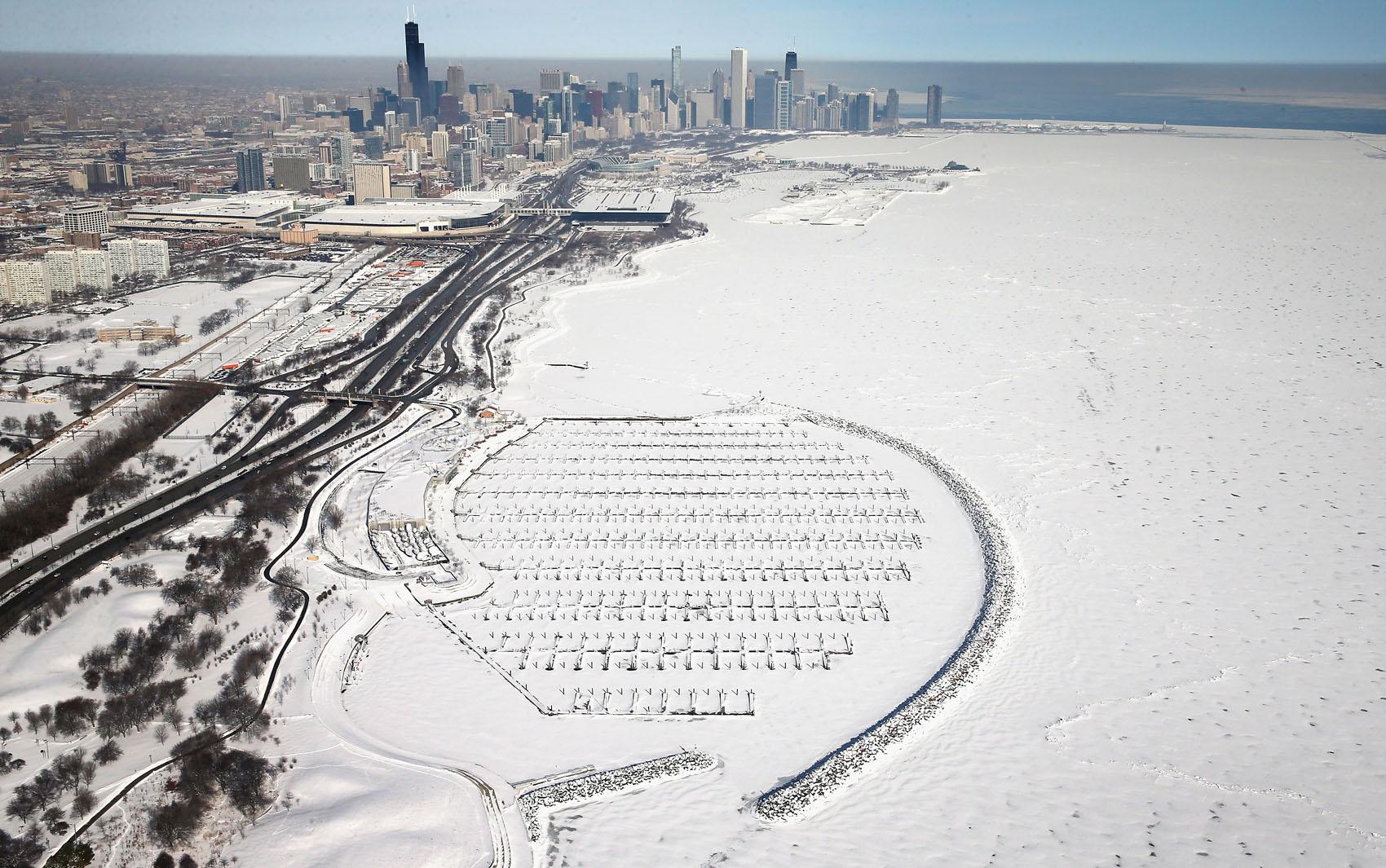 fotos superficie do lago michigan congela nos eua fotos em natureza g1 2