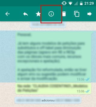 32dcd5fb0c0 Porém, o WhatsApp permite que você saiba quais foram os participantes do  grupo que leram uma mensagem sua. Mantenha pressionado o dedo sobre a  mensagem até ...
