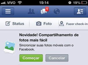 Facebook ganha sincronização automática de fotos (Foto: TechTudo)