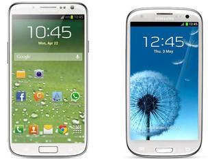 Suposto Galaxy S4 ao lado do Galaxy S3 (Foto: Divulgação)