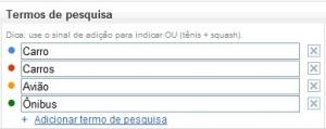 Termos da pesquisa (Foto: Reprodução/Camila Porto)