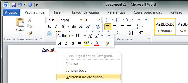 corretor ortografico word 2010