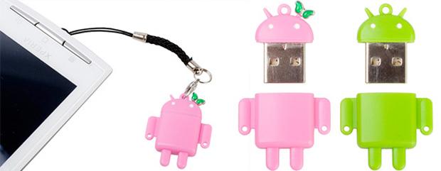 Pen drive com formato do mascote do Android (Foto: Divulgação)