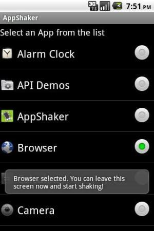 Seleção de aplicativo - AppShaker (Foto: Divulgação)