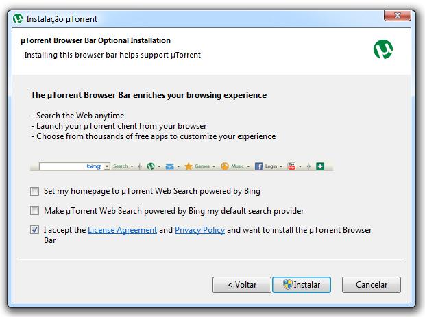 Instalação do uTorrent (Foto: Reprodução/TechTudo)