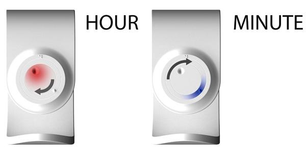 80b876bc082 Um relógio para deficientes visuais que mostra as horas por meio de ...