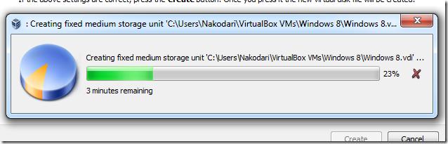 Inslação do windows 8 na máquina virtual. (Foto: Addictivetips)