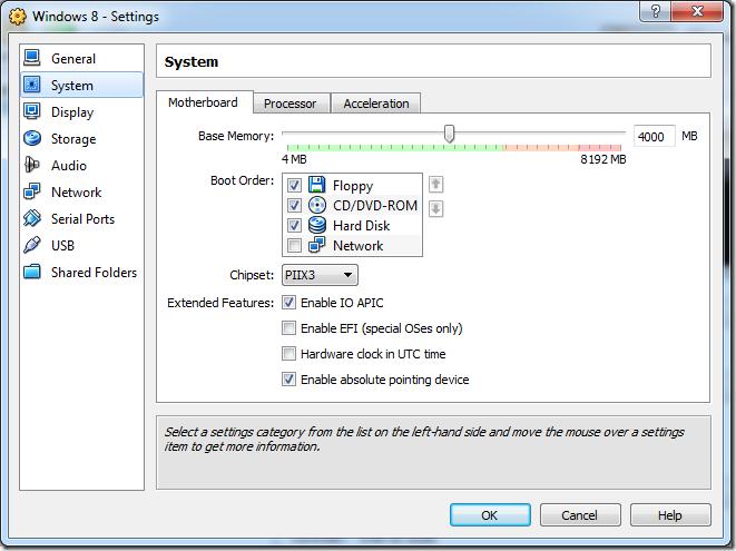 Inslação do windows 8 na máquina virtual (Foto: Addictivetips)