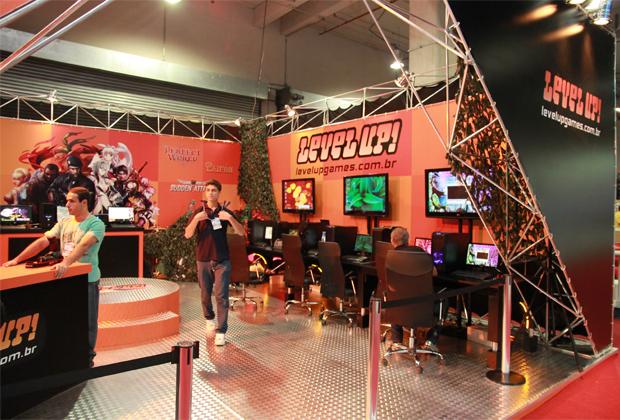 Estande da Level-Up na Brasil Game Show (Foto: Allan Melo/TechTudo)