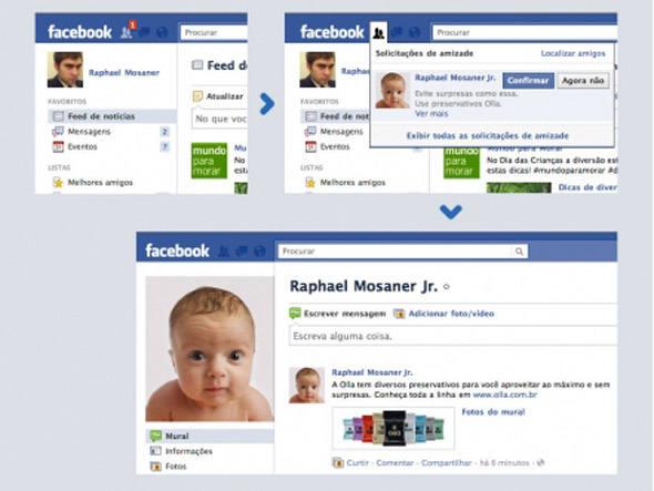Ação Olla Facebook (Foto: Reprodução)