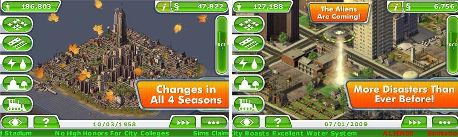 Telas do jogo SimCity Deluxe (Foto: Reprodução)