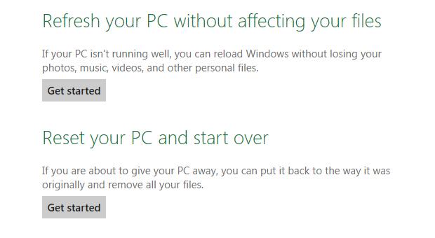 Com apenas alguns cliques é possível voltar às configurações de fábrica do Windows 8 (Foto: Reprodução/Paulo Higa)