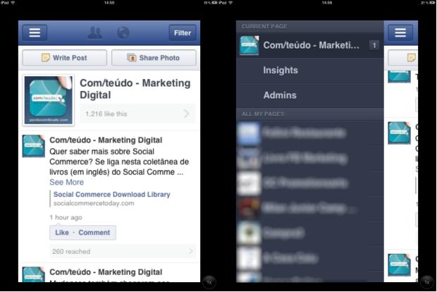 Como usar o Facebook Page Manager para iPhone, iPad e iPod Touch