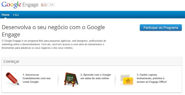 Site Google Engage (Foto: Reprodução)