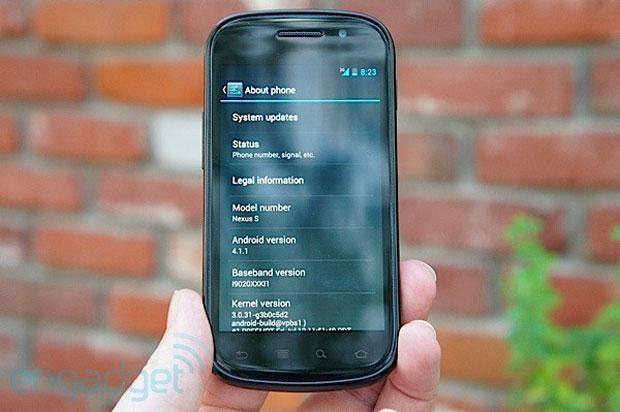 Smartphone oficial do Google já recebe o Android 4.1 (Foto: Reprodução)