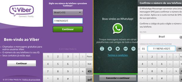 Reativando o Viber e o WhatsApp (Foto: Reprodução/TechTudo)